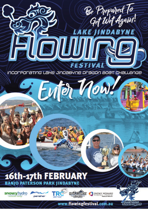 Flowing festival poster